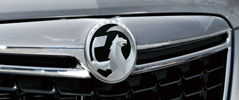 Opel logo on grill of car